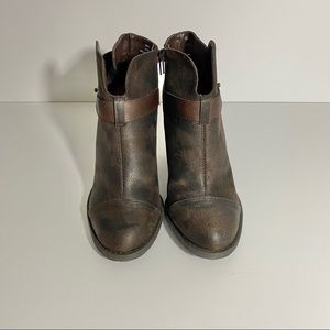 Crown Vintage Brown Booties 7.5